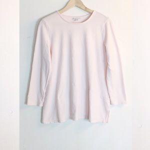 J Jill Pure Jill Soft Touch Cotton Top In Blush